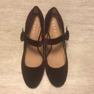 Velvet Magenta Mary Jane Heels Size 8.5